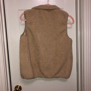 Tan Fuzzy Vest